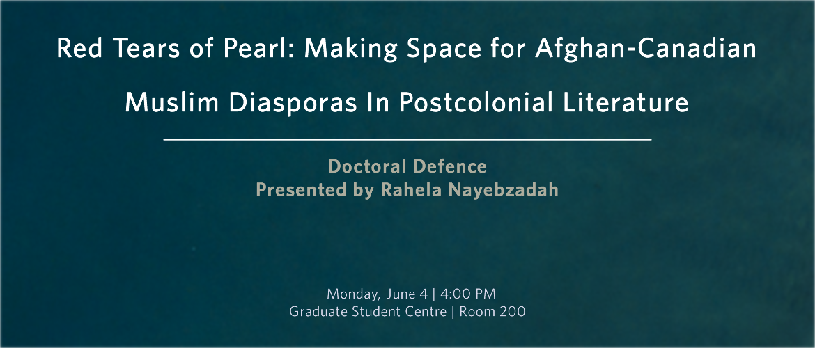 Rahela Nayebzadah's Doctoral Defence | Language & Literacy