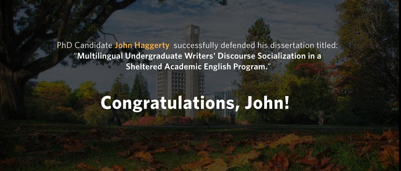 John Haggerty 2019 successful defence